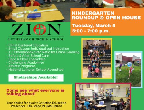 Kindergarten Round-Up & Open Enrollment 2019-2020